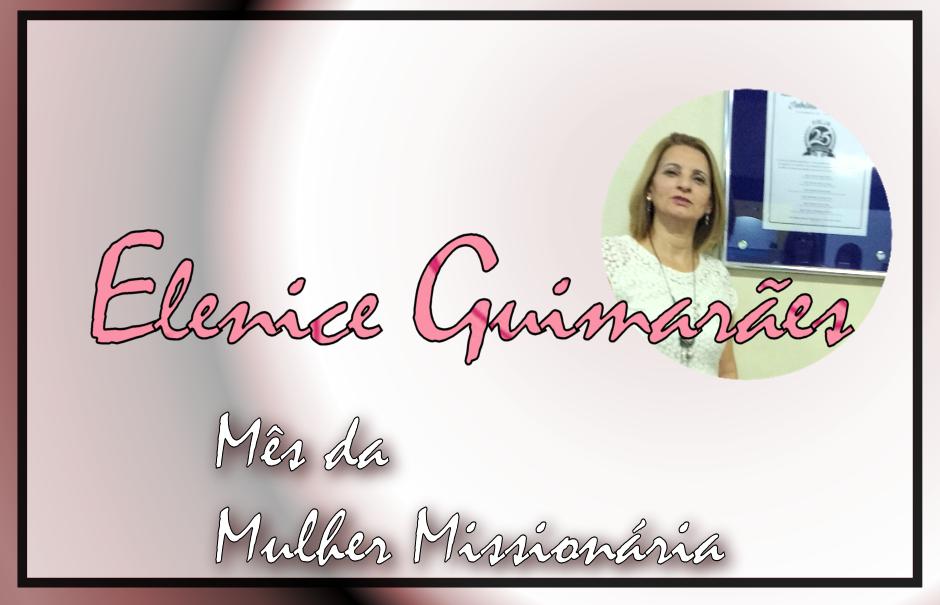 Mês da Mulher Missionária: Elenice Simão Guimarães