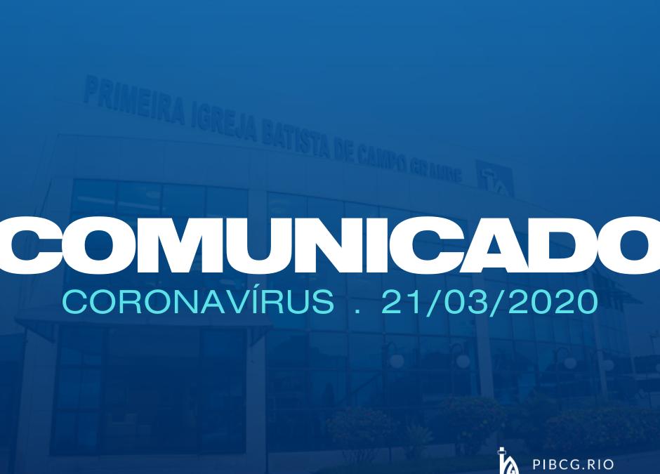 Comunicado 21-03-2020